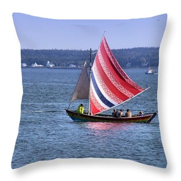 A Sail Of Many Colors Throw Pillow