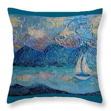 A Sailboat For The Mind #2 Throw Pillow
