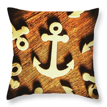 A Sailors Badge Throw Pillow