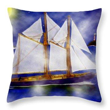 A Sailor's Dream Throw Pillow