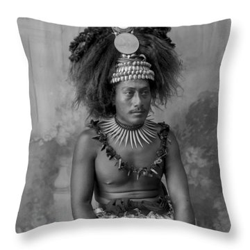 A Samoan High Chief Throw Pillow