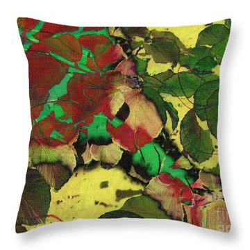A Scattering Of Leaves Throw Pillow
