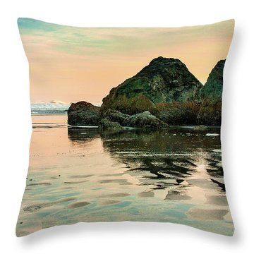 A Scene From The Beach Throw Pillow