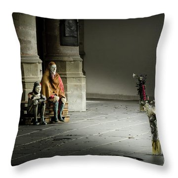 A Scene In Oude Kerk Amsterdam Throw Pillow by RicardMN Photography
