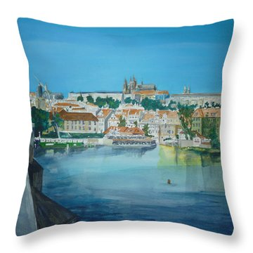 A Scene In Prague 3 Throw Pillow