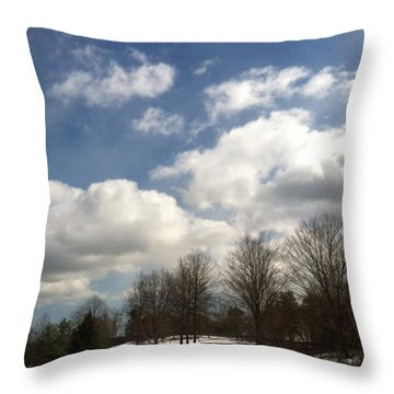 A Scenic Winter Throw Pillow