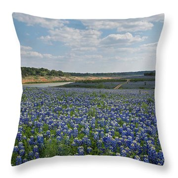 A Sea Of Blue Throw Pillow