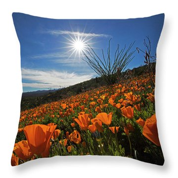 A Sea Of Poppies Throw Pillow