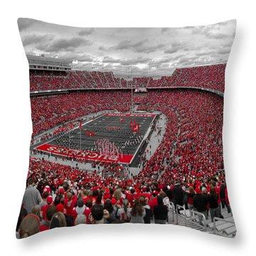 A Sea Of Scarlet Throw Pillow by Kenneth Krolikowski