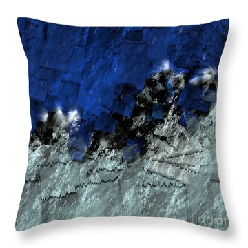 Throw Pillow featuring the digital art A Sea Storm In My Heart by Silvia Ganora
