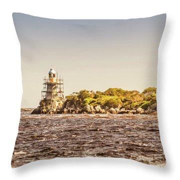A Seashore Construction Throw Pillow