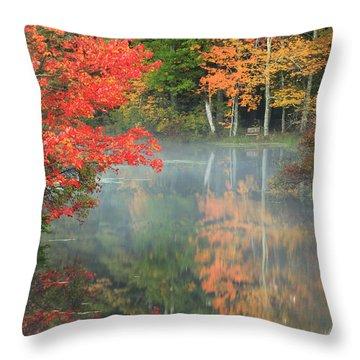 A Seat To Watch Autumn Throw Pillow
