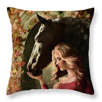 Throw Pillow featuring the digital art A Secret Passage by Melinda Hughes-Berland