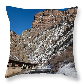 A Section Of The World-famous Glenwood Viaduct Throw Pillow