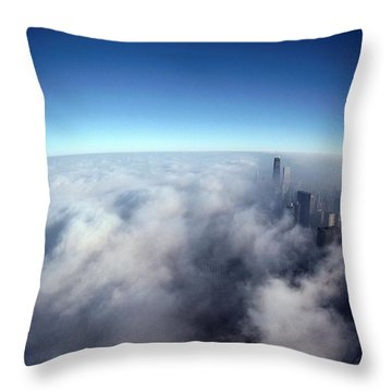 A Shadow Of The Sears Tower Slants Throw Pillow