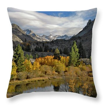 A Sierra Mountain View Throw Pillow
