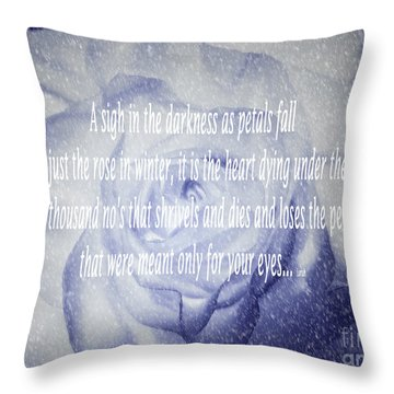 A Sigh In The Darkness Throw Pillow