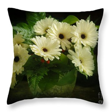 A Simple Bouquet Throw Pillow by Nancy Dempsey