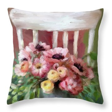 A Simple Bouquet Throw Pillow