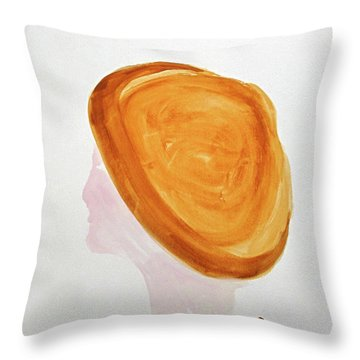 Throw Pillow featuring the painting A Simple Hat by Sandy McIntire