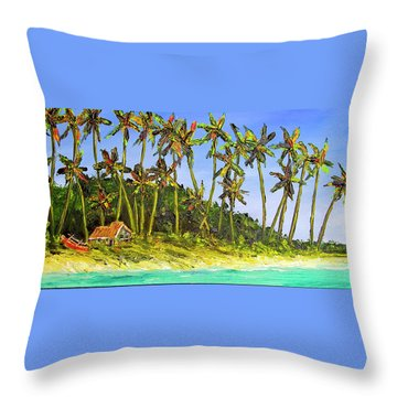 A Simple Life#374 Throw Pillow by Donald k Hall