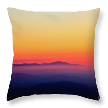 Throw Pillow featuring the photograph A Simple Sunrise by Douglas Stucky