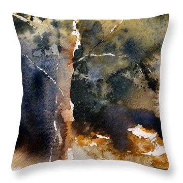 Throw Pillow featuring the painting A Simple Tree by Sandra Strohschein