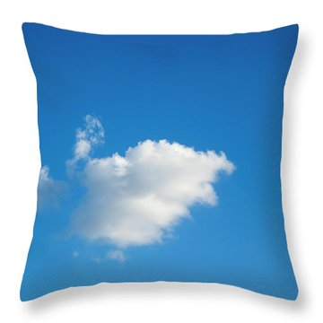 Throw Pillow featuring the photograph A Single Cloud by Eric Christopher Jackson