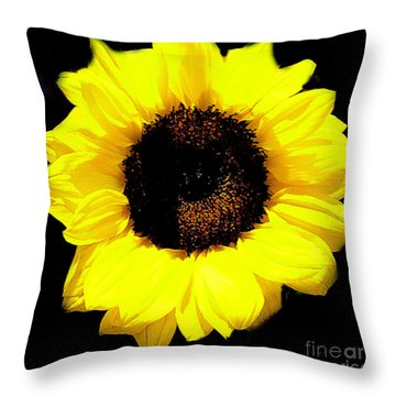 A Single Sunflower Throw Pillow