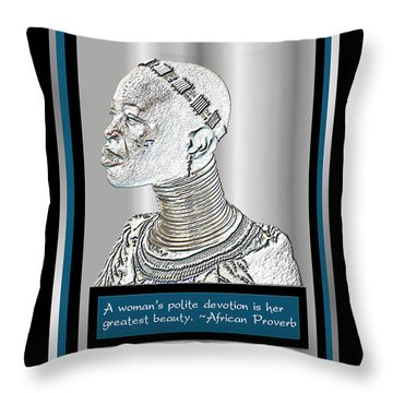 A Sisters Portrait 2 Throw Pillow