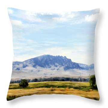 Throw Pillow featuring the painting A Sleeping Giant by Susan Kinney