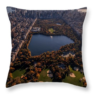 A Slice Of New York City  Throw Pillow