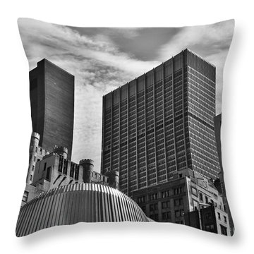 Throw Pillow featuring the photograph A Slice Of New York City by Kate Purdy