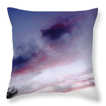 A Sliver Of Moon Throw Pillow