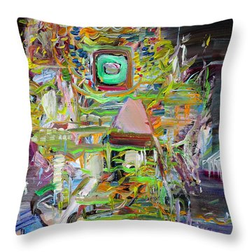Throw Pillow featuring the painting A Small Portion Of Herself by Fabrizio Cassetta