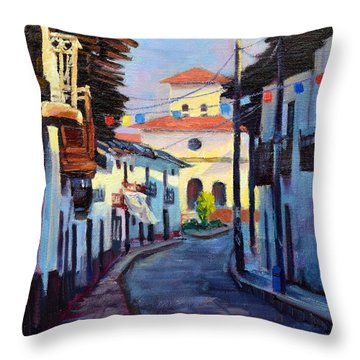 A Small Town Throw Pillow