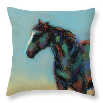 Throw Pillow featuring the pastel A Soft Breeze by Frances Marino