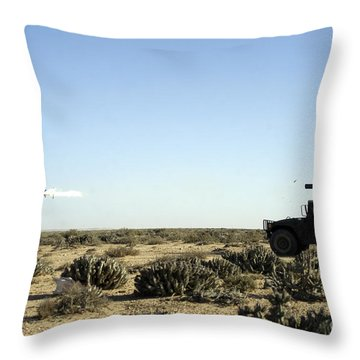 A Soldier Tests His Skill With The Tube Throw Pillow by Stocktrek Images