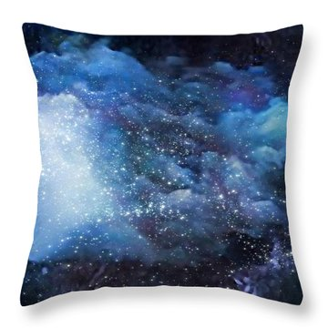 Throw Pillow featuring the digital art A Soul In The Sky by Gun Legler