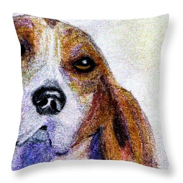 A Soulful Hound Throw Pillow