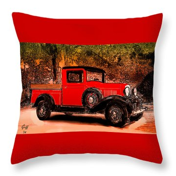 A Southern Ford Throw Pillow