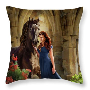 A Spanish Night Throw Pillow