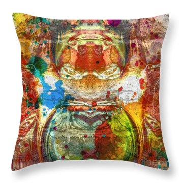 A Spattering Of Color Throw Pillow