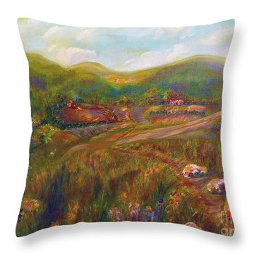 Throw Pillow featuring the painting A Special Place by Claire Bull