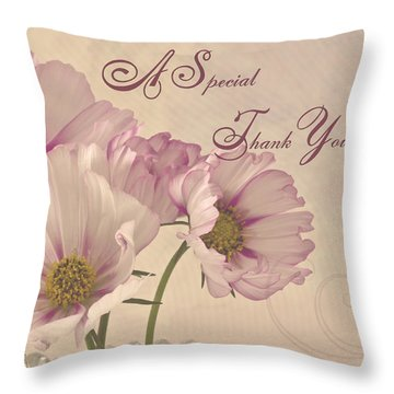 A Special Thank You - Card Throw Pillow