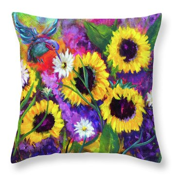 A Special Visitor Throw Pillow
