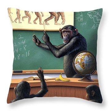 A Specious Origin Throw Pillow by Jerry LoFaro