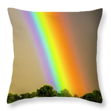 A Spectrum Of Nebraska 002 Throw Pillow