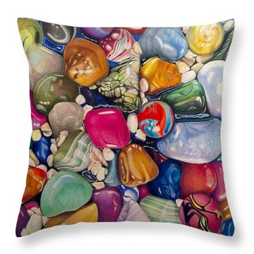 A Splash Of Color And Hardness Throw Pillow