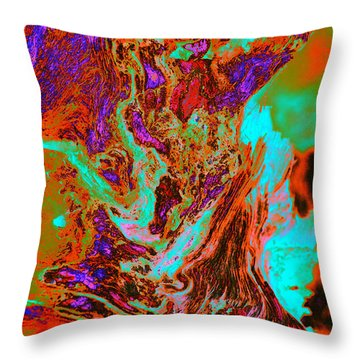 A Splash Of Color In The Weeds Throw Pillow